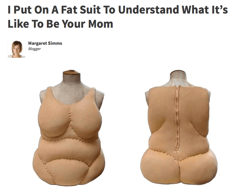 Outerwear - I Put On A Fat Suit To Understand What It's Like To Be Your Mom Margaret Simms Blogger