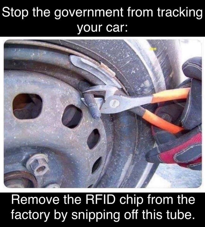 Auto part - Stop the government from tracking your car: Remove the RFID chip from the factory by snipping off this tube.