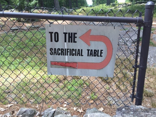Signage - TO THE SACRIFICIAL TABLE