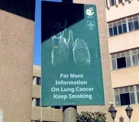 Organism - For More Information On Lung Cancer Keep Smoking