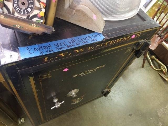 Furniture - CAVTIDN SAFE W Crust you F You open Booe sL TRE WA1 ES TERM THE HALLS SAFE COMPANY CANSNa HA
