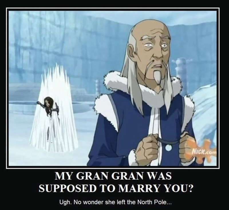 Cartoon - NICK.Com MY GRAN GRAN WAS SUPPOSED TO MARRY YOU? Ugh. No wonder she left the North Pole...