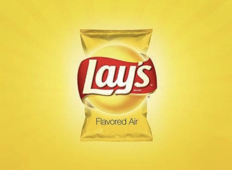 marketing - Junk food - Lays sRAND Flavored Air