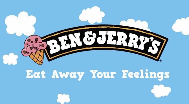 marketing - Text - BENGJERRYS Eat Away Your Feelings