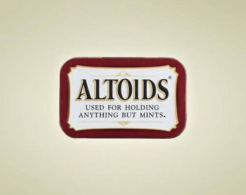 marketing - Logo - |ALTOIDS USED FOR HOLDING ANYTHING BUT MINTS