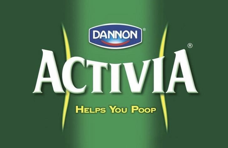 marketing - Green - DANNON ACTIVIA HELPS YOU POOP