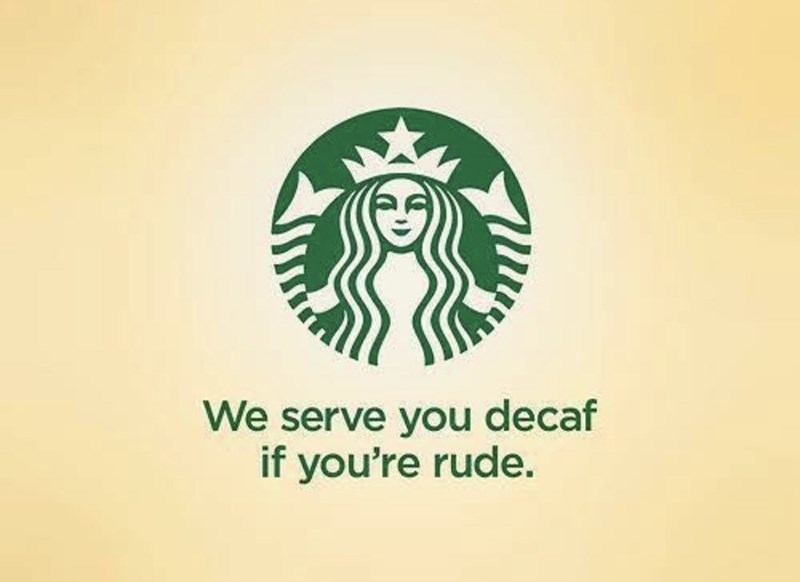 marketing - Logo - We serve you decaf if you're rude.