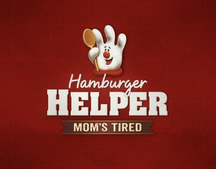 marketing - Logo - Hamburger HELPER MOM'S TIRED