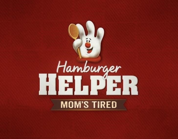 marketing - Logo - Hamburger HELPER MOM'S TIRED