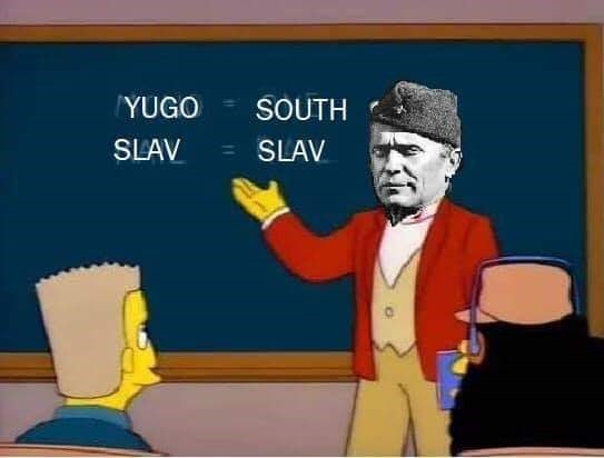 slavic meme - Cartoon - YUGO SOUTH SLAV SLAV