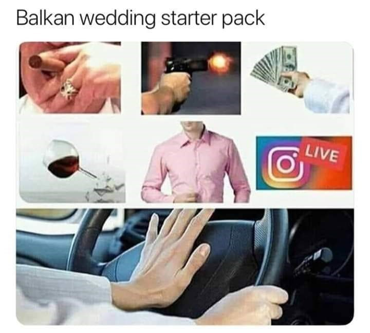 slavic meme - Product - Balkan wedding starter pack LIVE