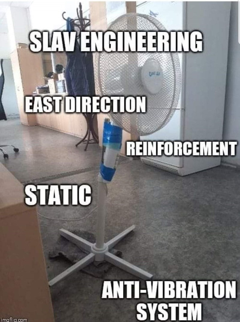 slavic meme - Product - SLAVENGINEERING EAST DIRECTION REINFORCEMENT STATIC ANTI-VIBRATION SYSTEM imgflip.com