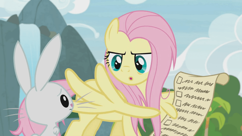 angel screencap fluttershy she talks to angel - 9353382656