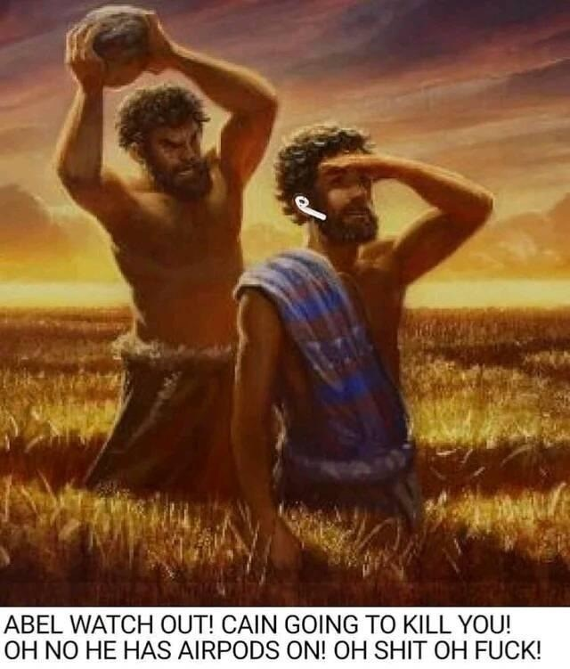 People in nature - ABEL WATCH OUT! CAIN GOING TO KILL YOU! OH NO HE HAS AIRPODS ON! OH SHIT OH FUCK!