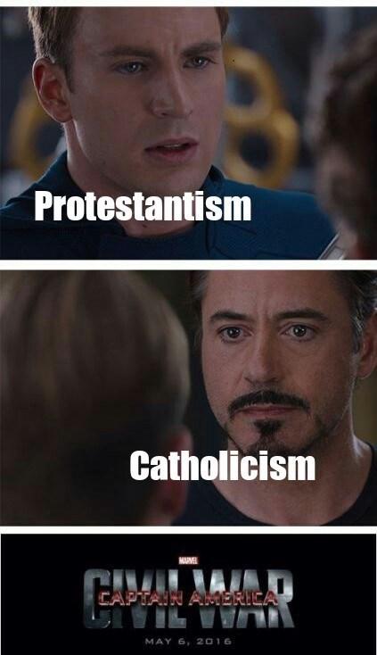 Chin - Protestantism Catholicism MUME APTAIN AMERICA MAY 6, 2016