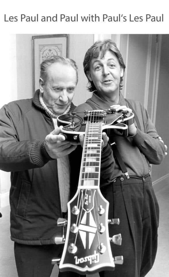String instrument - Les Paul and Paul with Paul's Les Paul LrouqhH