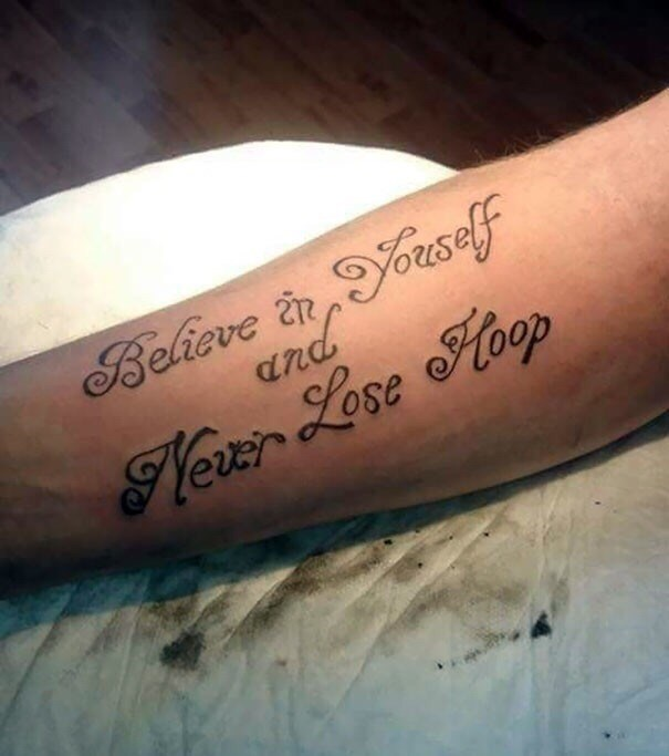 cringe tattoo - Tattoo - Believe in orseff and lexr Lose Hoop