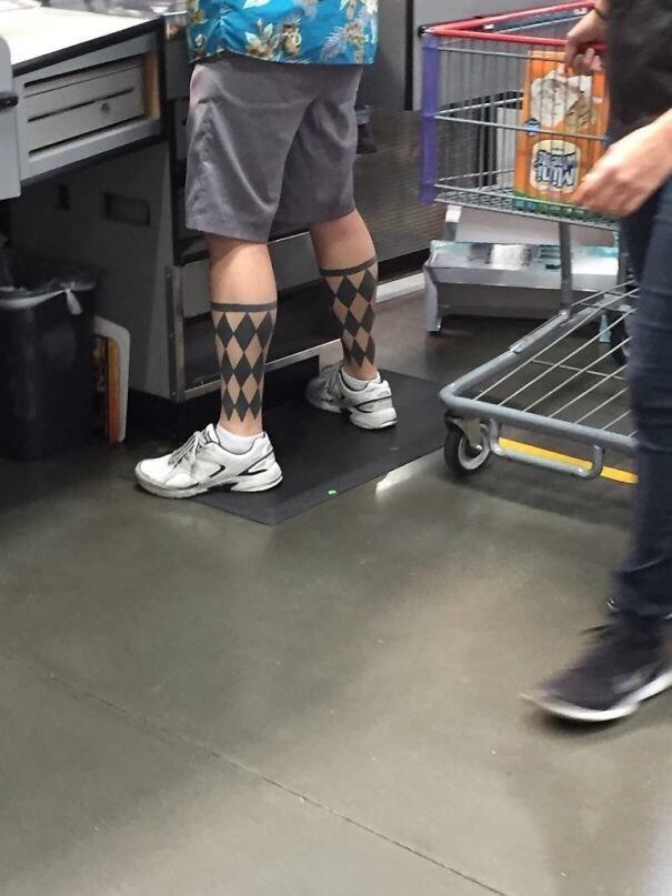 cringe tattoo - Human leg