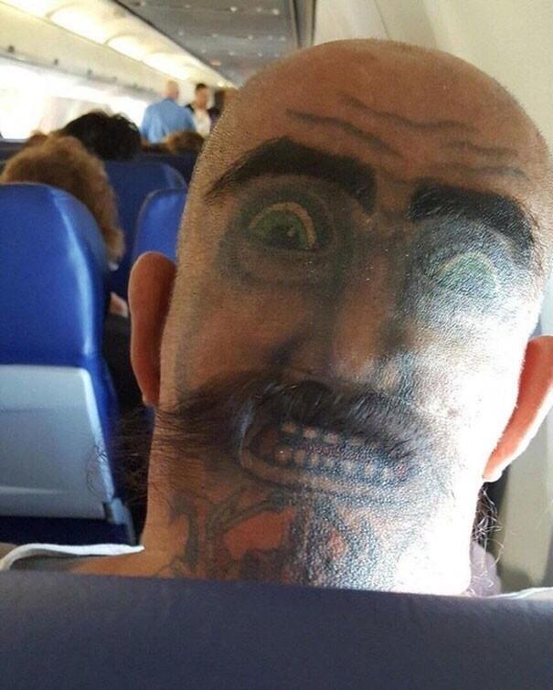 cringe tattoo - Face