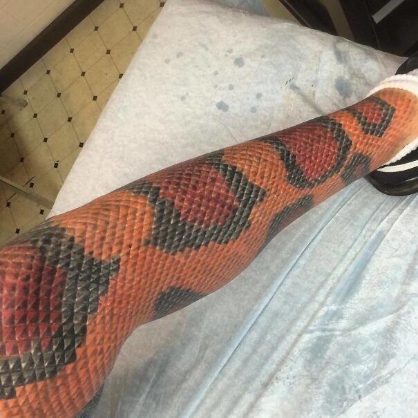 cringe tattoo - Snake