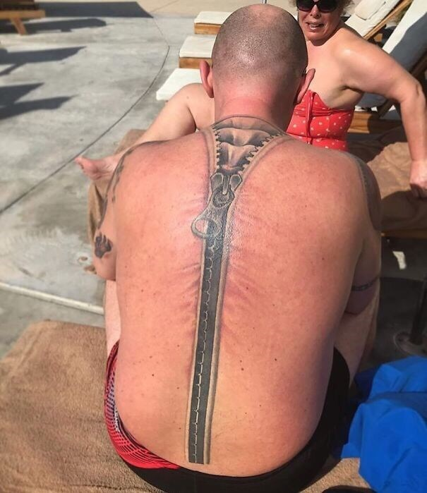 cringe tattoo - Barechested