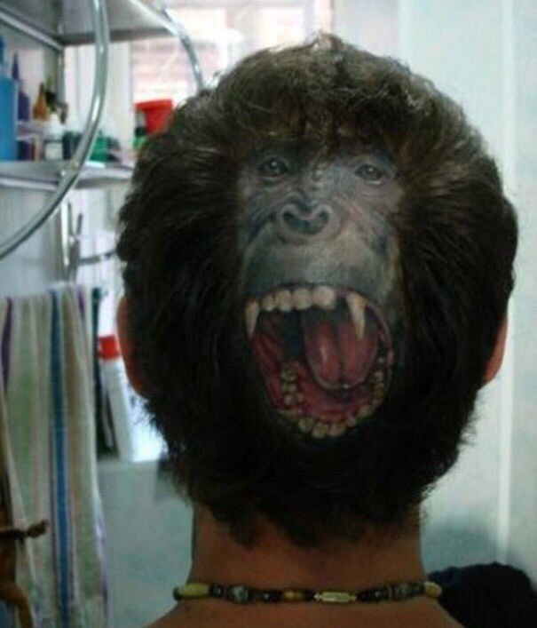 cringe tattoo - Hair