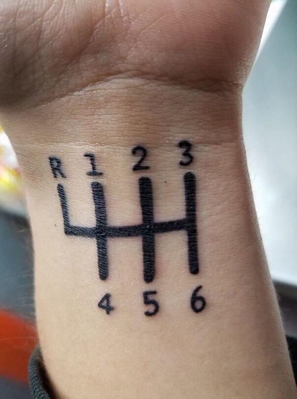 cringe tattoo - Wrist - 2 3 R 4 5 6 CN