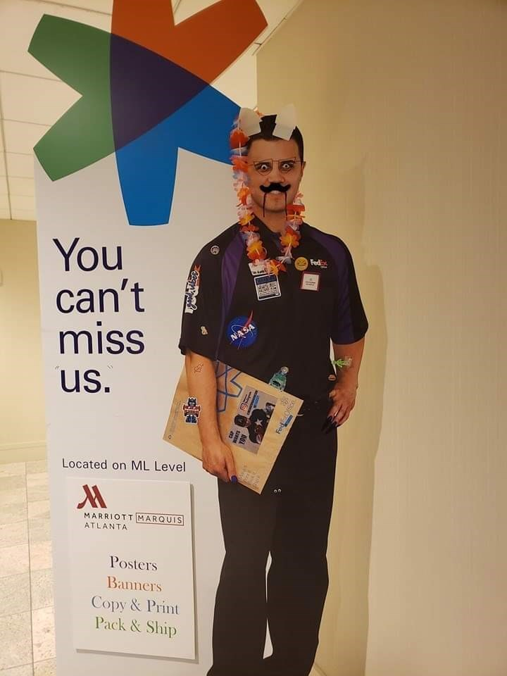 fedex - Font - You can't miss Fed NASA us. Located on ML Level MARRIOTT MARQUIS ATLANTA Posters Banners Copy&Print Pack&Ship