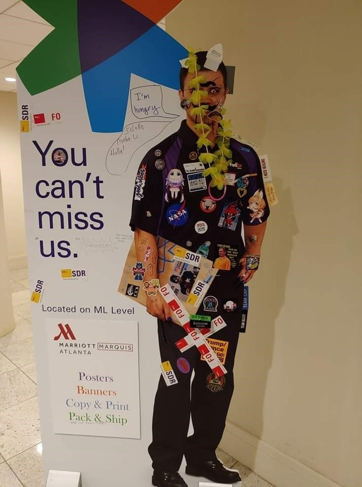 fedex - Costume - T'm hongrs FO hake U Holle You can't miss Fed NASA us. SDR apam SDR Located on ML Level FO MARRIOTTMARQUIS ATLANTA Posters Banners Copy&Print Pack&Ship SDR SDR 03 SDR EN SDR FO FO FO