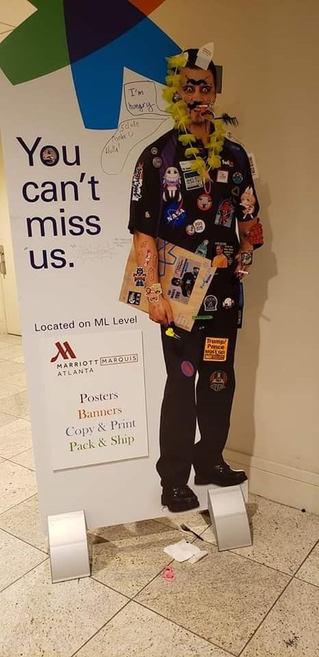 fedex - Fashion - homgrs You can't miss holla ed AS us. Located on ML Leve Trump/ Pence MARRIOTT MARQUIS ATLANTA Posters Banners Copy&Print Pack&Ship 4
