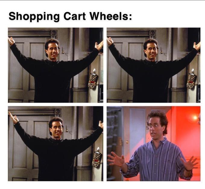 Facial expression - Shopping Cart Wheels:
