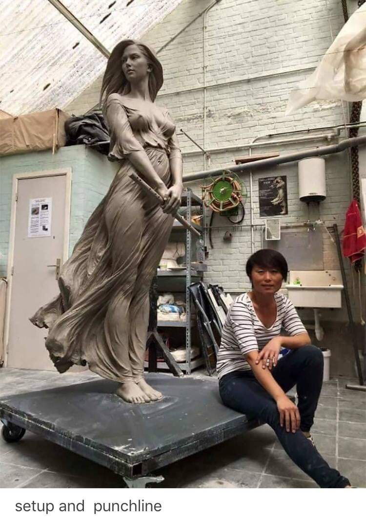 sexist - Statue - setup and punchline