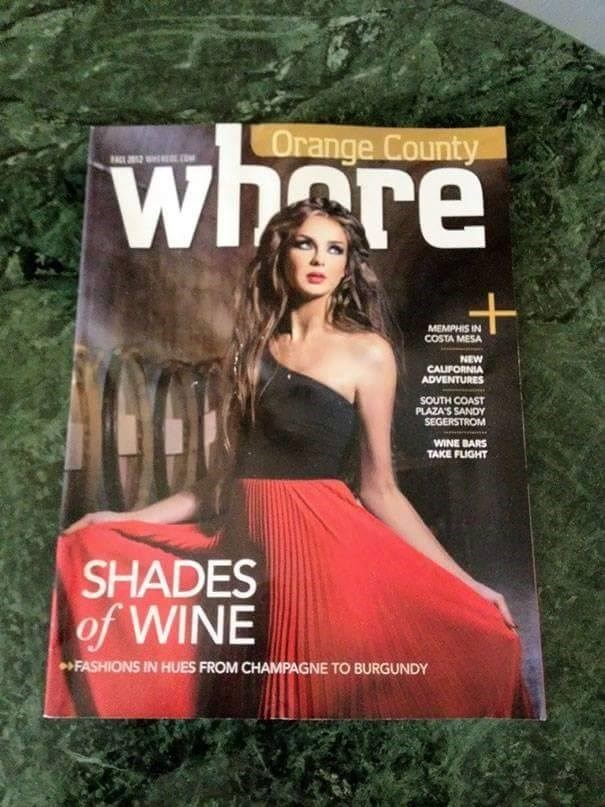 Magazine - whore Orange County A W MEMPHIS IN COSTA MESA NEW CAUFORNIA ADVENTURES SOUTH COAST PLAZA'S SANDY SEGERSTROM WINE BARS TAKE FLIGHT SHADES of WINE FASHIONS IN HUES FROM CHAMPAGNE TO BURGUNDY