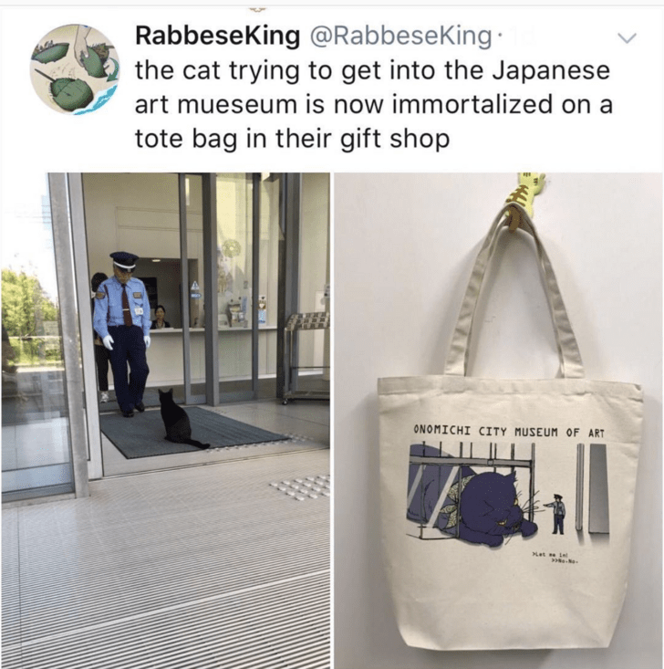 wholesome tote bag tote uplifting Japan Cats - 9355223296