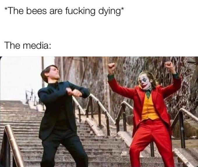 joker peter parker - Fictional character - *The bees are fucking dying* The media: