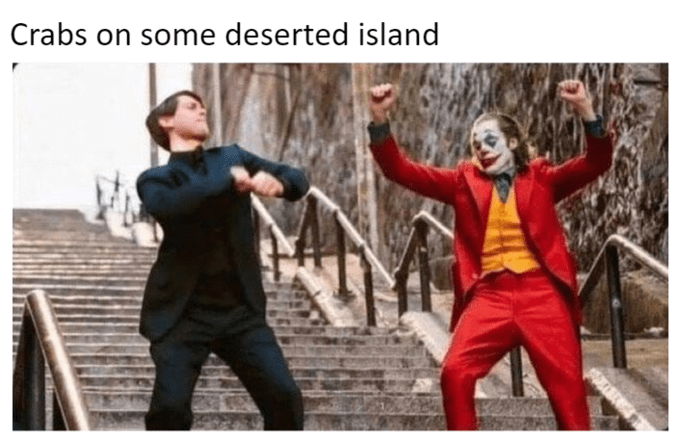 joker peter parker - Fictional character - Crabs on some deserted island