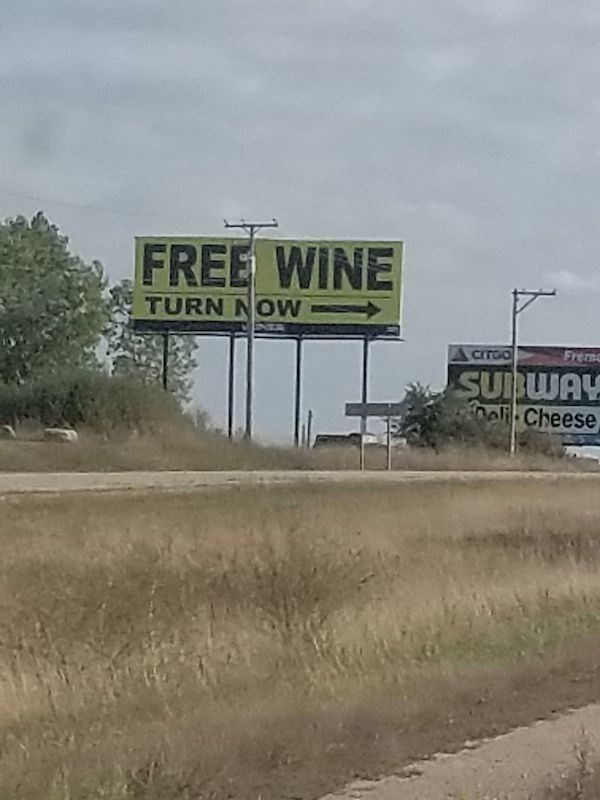 signs - Signage - FREE WINE TURN NOW CITGO Frere SUBWAY 0eli Cheese