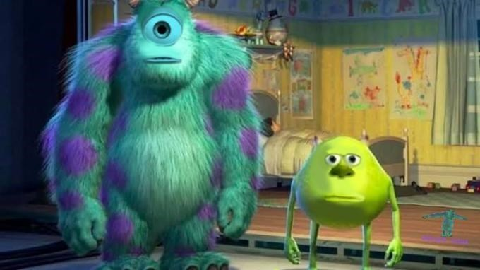 Original face-swapped image of Sully and Mike Wazowski from Monsters, Inc.
