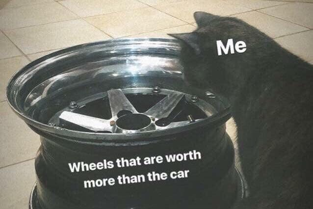Alloy wheel - Me Wheels that are worth more than the car