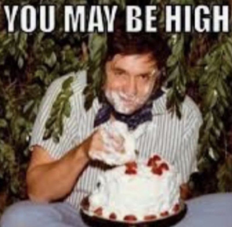 cropped boomer meme - Birthday - VOU MAY BE HIGH