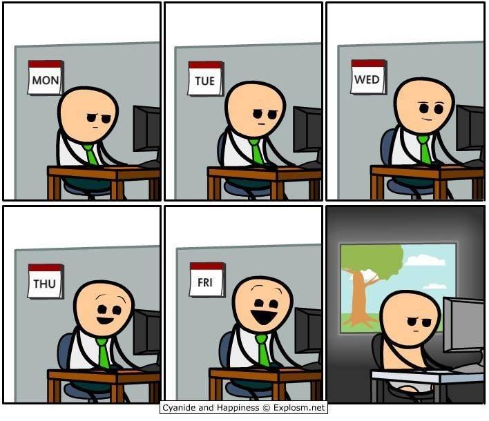 webcomic - Cartoon - WED MON TUE FRI THU Cyanide and Happiness O Explosm.net
