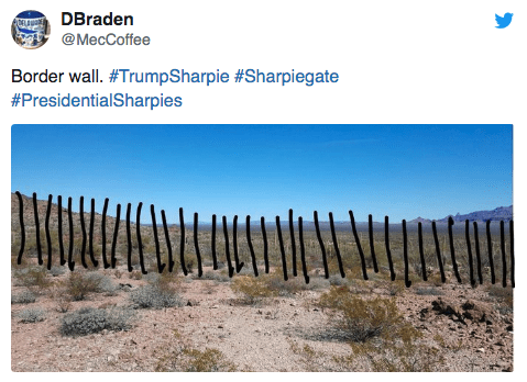 Soil - DBraden @MecCoffee Border wall. #TrumpSharpie #Sharpiegate #PresidentialSharpies
