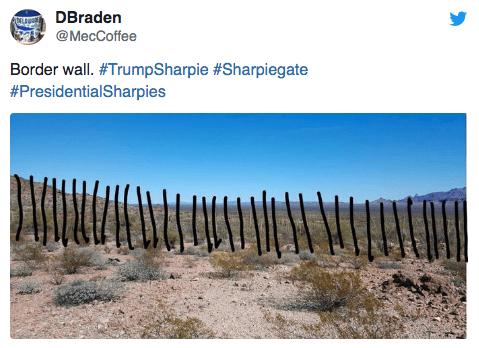 Soil - DBraden @MecCoffee Border wall. #TrumpSharpie #Sharpiegate #PresidentialSharpies