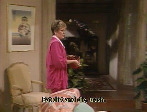 Sitting - Eat dirt and die, trash.