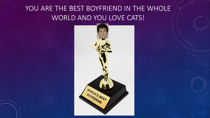 Trophy - YOU ARE THE BEST BOYFRIEND IN THE WHOLE WORLD AND YOU LOVE CATS! WORLD'S BEST BOYFRIEND