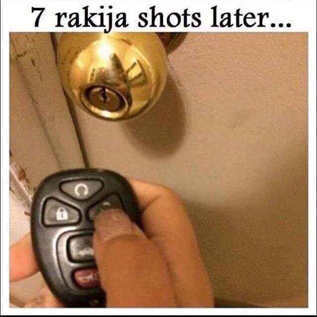 Lock - 7 rakija shots later...