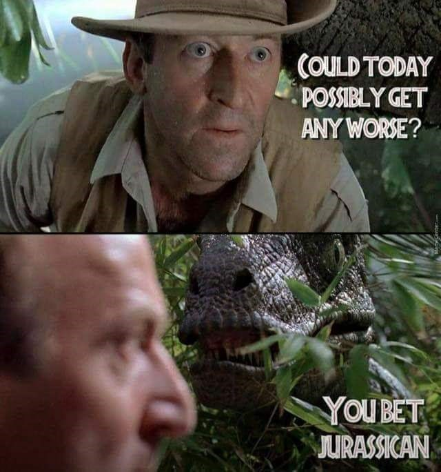 Adaptation - COULD TODAY POSSIBLY GET ANY WORSE? YOU BET JURASSICAN