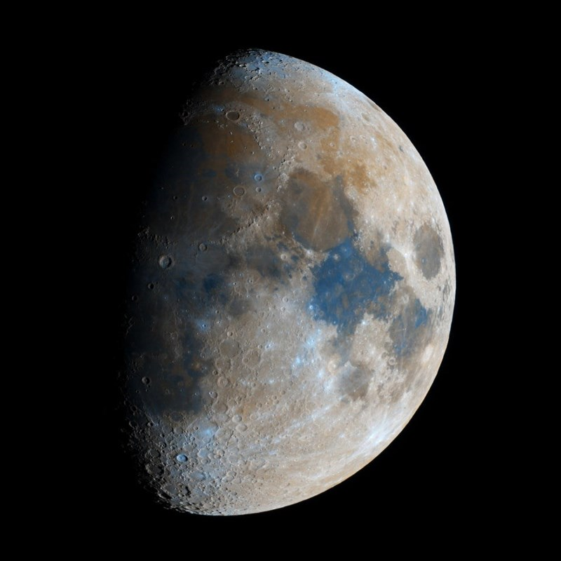 high resolution color picture of the moon