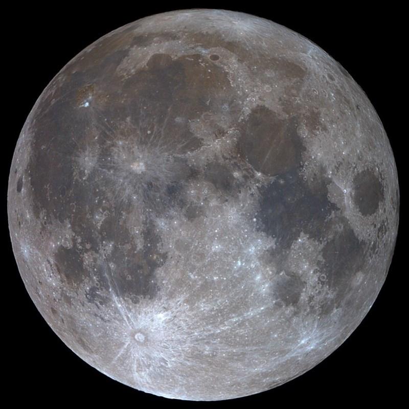 photo of waxing gibbous moon illuminated 99.9%