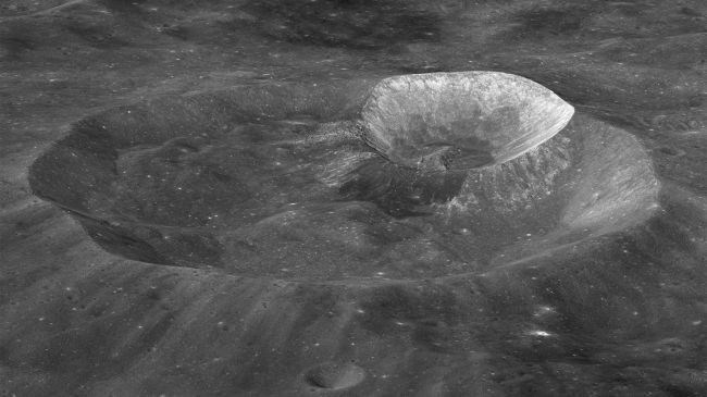picture of the wargo crater on the moon